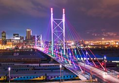 Nelson Mandela Bridge by night