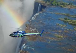 Helicopter over Vic Falls