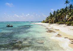 Beach on San Andres island