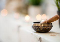 Singing bowl - yoga