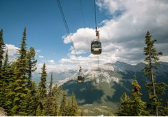 Gondola up the mountains in Banff