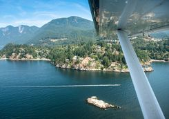 View of Vancouver from seaplane