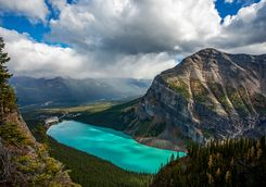 Lake Louise aerial view