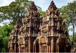 Banteay Srei Temple pink sandstone