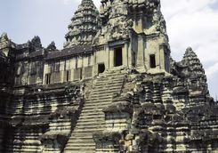 Steep steps at Angkor Wat