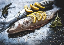 Fresh fish prepared with lemon