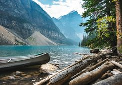 Boat on Lake Moraine