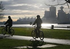 Cycling in Stanley Park