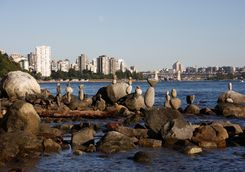 Standing stones in Vancouver harbour