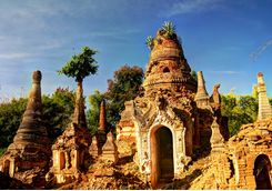 Ruined buddhist temple