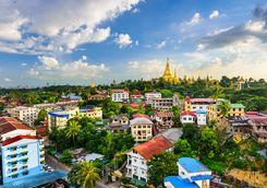 Aerial view of Yangon