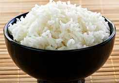Steamed sticky rice bowl