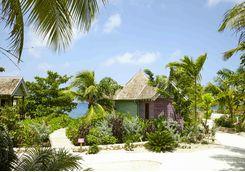 Beach hut at Golden Eye