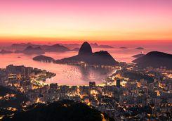 Rio pink sunset