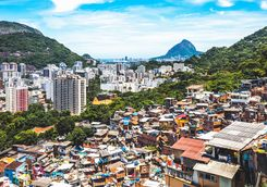 View over favela