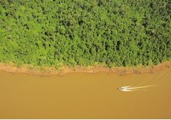 Aerial over Iguazu River
