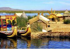 Island on Lake Titicaca