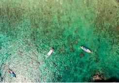 Aerial shot of Phi Phi