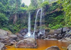 Waterfall in Cambodia