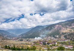 View across Thimphu, Bhutan
