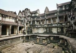 A courtyard at Angkor Wat