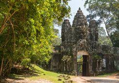 An entrance to a temple at Angkor Wat