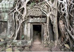 An entrance inside a temple