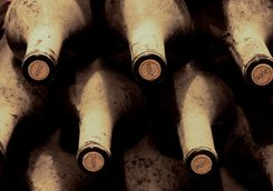 Old wine bottles