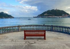 views of san sebastian coast