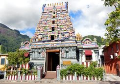 A religious temple in Mahe