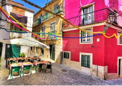 Colourful Lisbon Street