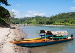 A boat on the Usumacinta river
