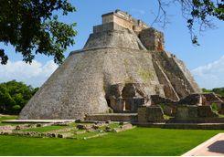 Uxmal pyramid mayan site