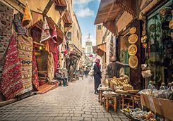 Fez street shopping