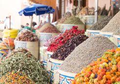 Spices in Marrakech market
