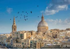 Valletta's cathedral skyline