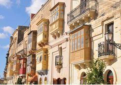 A sunny street in Valletta