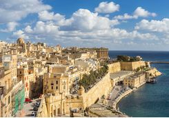 Valletta's walled city