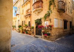 a pretty street in Mdina
