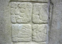 a mayan stone carving