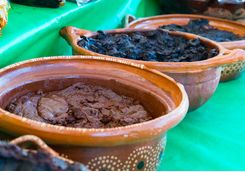 mole paste in a market