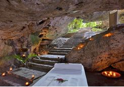the underground spa at hacienda temazon