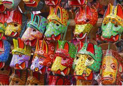 Masks at the market