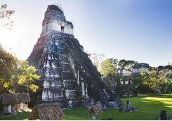 Tikal National Park sunset