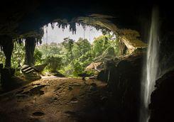 Waterfall cave