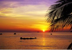 Tioman island sunset