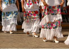 Mexican folklore dancers