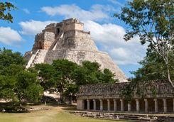 A large mayan pyramid