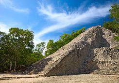 Mayan ruins in the Yucatan jungle