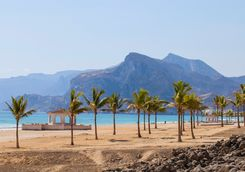 a beach in Salalah